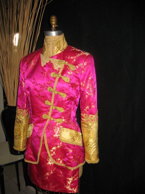 Pink/gold suit