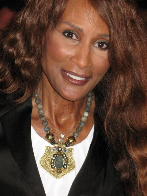 Top Model Beverly Johnson in a Lanivich necklace