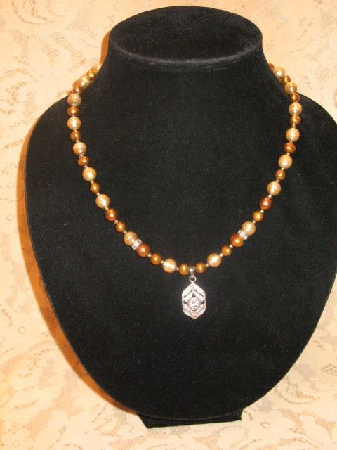 Gold Pearls/CZ #860