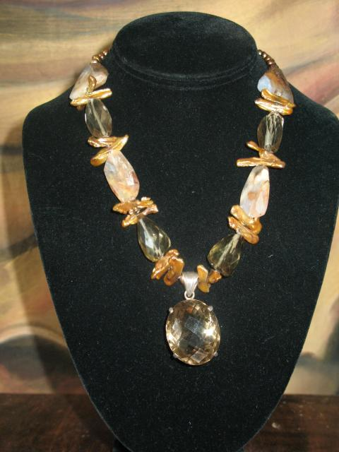 Citrine/pearl **  SOLD**